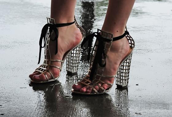 Original YSL cage sandals