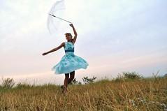All God's children can dance (nocna_tozsamosc_grzanki) Tags: portrait woman girl lady umbrella dress dancing ania transparent portret kraków cracow taniec niunia dziewczyna kobieta sukienka krakoff parasolka zakrzówek