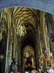 The High Altar in the heart of the cathedral represents the church's patron St. Stephen
