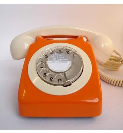 1970's orange-vintage-phone