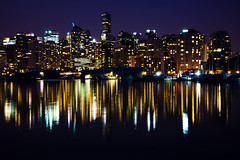 Another evening, another blue hour (Blue Hour) Tags: blue canada reflection water vancouver buildings bc hour