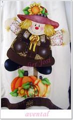 avental espantalho (Arte & Flor) Tags: flores artesanato patchwork avental decorao tecido espantalho abobora