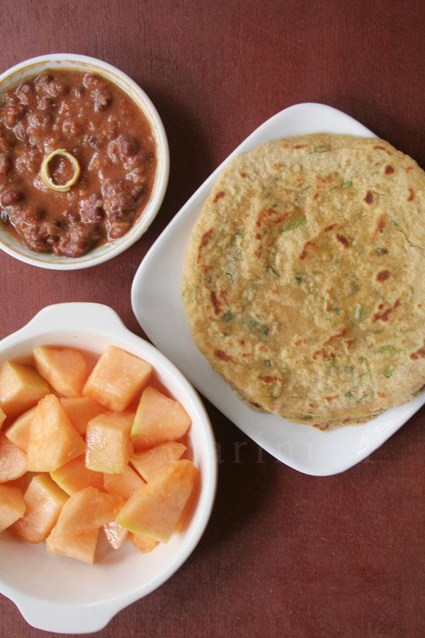 Rajma, musk melons and missi roti