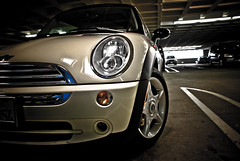 See me, i'm Mini (julien.david) Tags: california usa car automobile san francisco unitedstates parking engine indoor mini cooper bmw motor vehicule