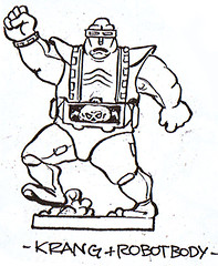 """Turtle Soup – Designs From The Classic TMNT Years""  the TMNT work of David Arshawsky :: Krang's Android Body  Mini Figure (( 199x ))"