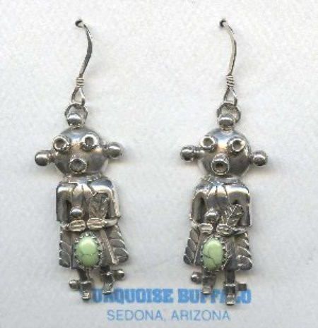 Hopi Mudhead Kachina Earrings