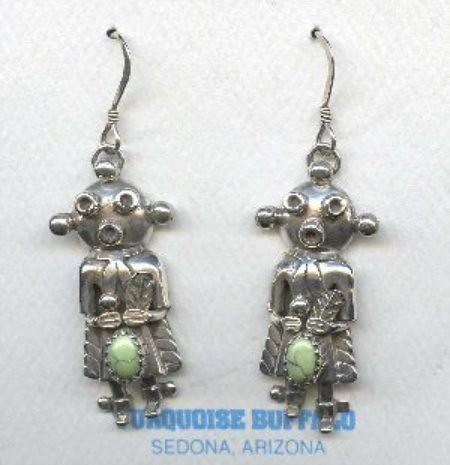 Hopi Mudhead Kachina Earrings
