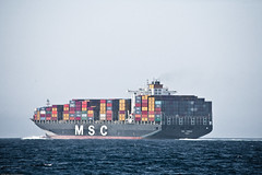 Massive Container Freighter Ship MSC TOMOKO PANAMA in the Santa Barbara Channel  8400 TEU (mikebaird) Tags: santa santabarbara ship vessel container barbara commercial massive express panama condor containership msc tomoko freighter condorexpress mediterraneanshippingcompany commercialship markbattypublisher 07sept2009 8400teu megavessels