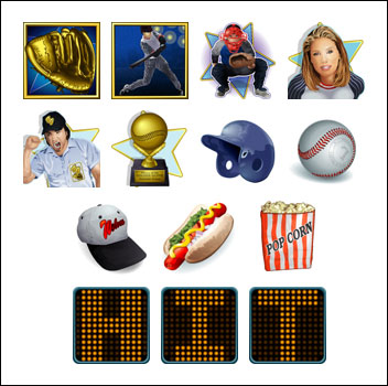 free Golden Glove slot game symbols
