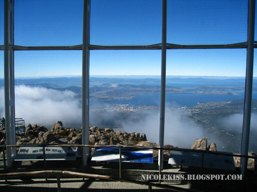 lookout building on mount wellington tasmania