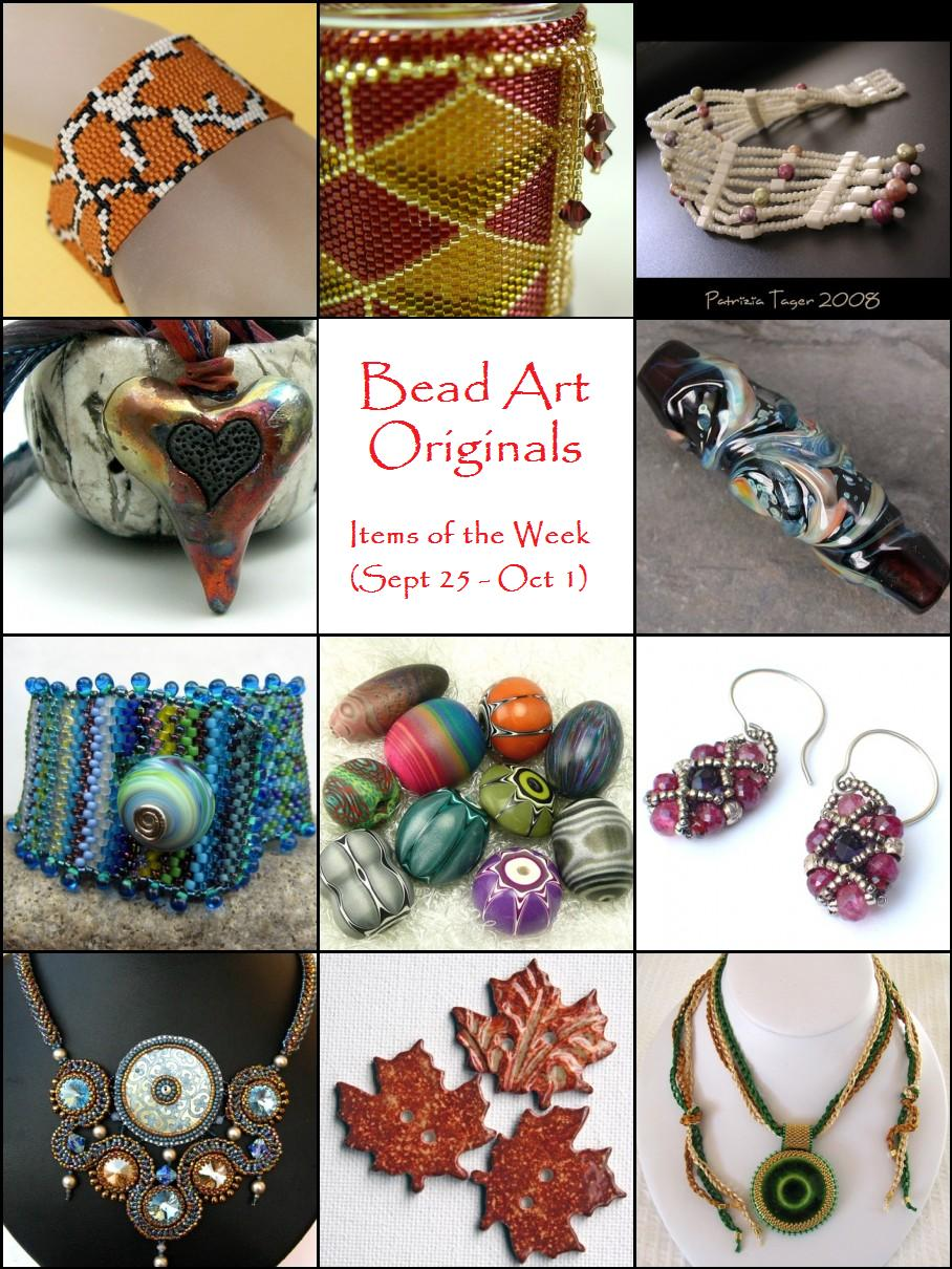 Bead Art Originals Items of the Week (9/25-10/1)