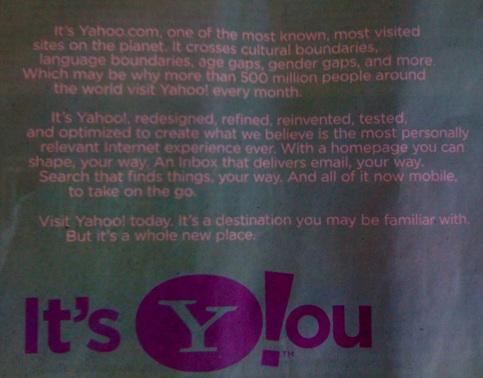 Yahoo WSJ Ad