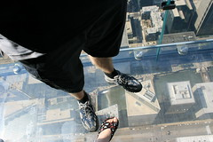 USA Road Trip: Chicago - Sears Tower Glass Floor (sooloveselvis) Tags: city vacation usa holiday chicago tower glass up america illinois unitedstates sears searstower vertigo dizzy sick glassfloor floorbravehighhigh