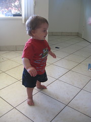 Silas walking! 10/1/09