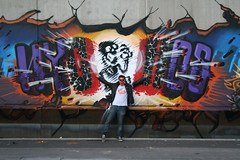 from hell (RABBIT EYE MOVEMENT) Tags: rabbit eye illustration movement letters devil splatter lowbrow exploding nychos