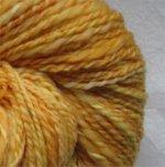CANDY CORN - handspun wool yarn - 220 yards