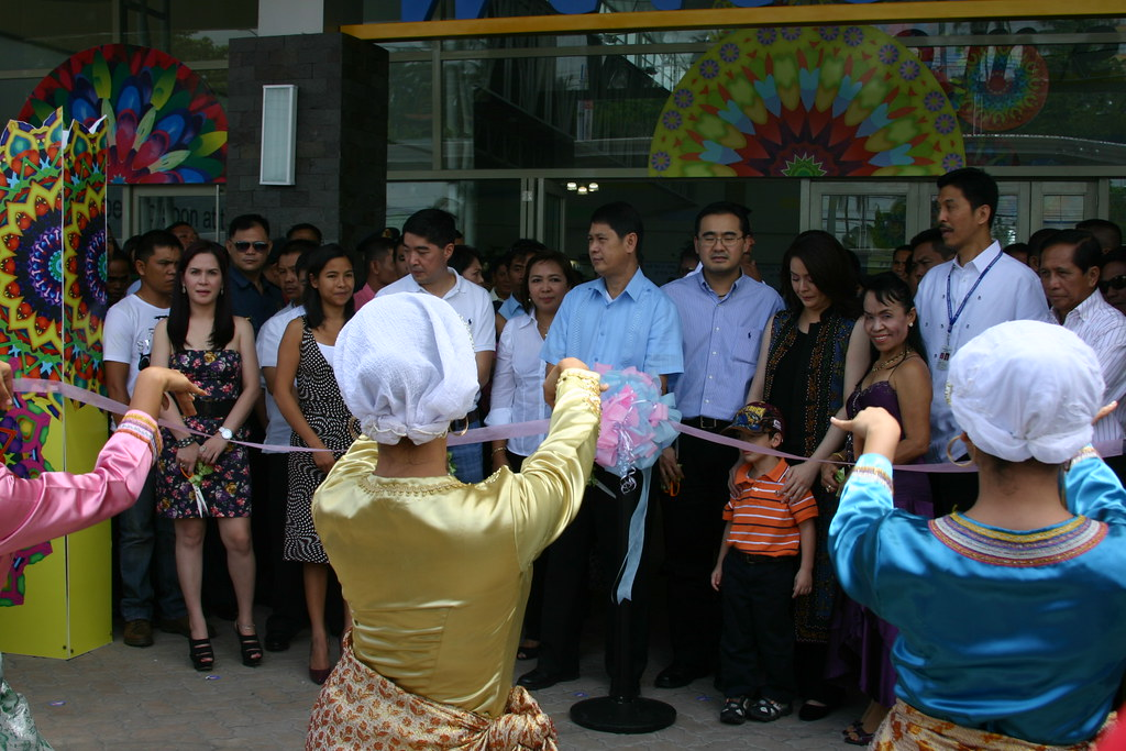 Dancers perform a muslim dance minutes before the official cutting of the ribbon signalling the opening of the mall at the Main Entrance.