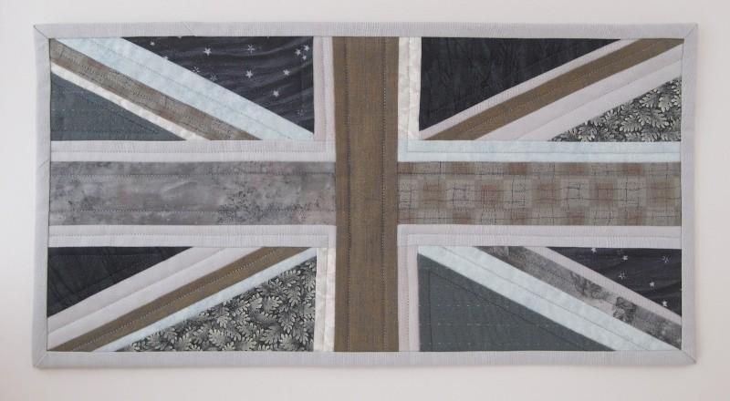 Union Jack cushion quilt