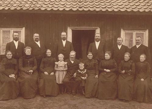 Anders Björn med familj på guldbröllopsdagen