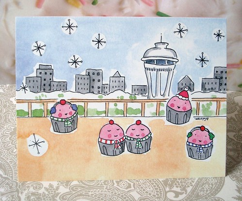 Cuppies at the Space Needle Cards!