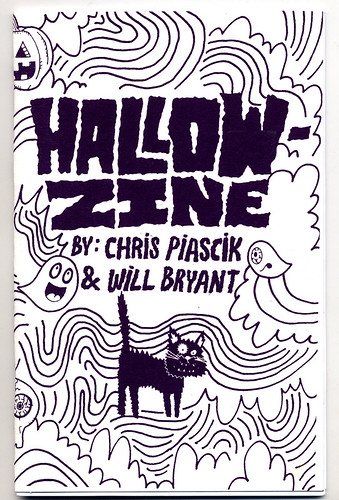 Hallowzine screen-printed cover