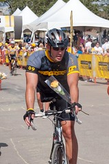 Finish Line - 90 miles down. (benrobertsabq) Tags: bike bicycle cycling cyclist athlete cancersurvivor amputee brettweitzel livestrongchallengeaustin2009