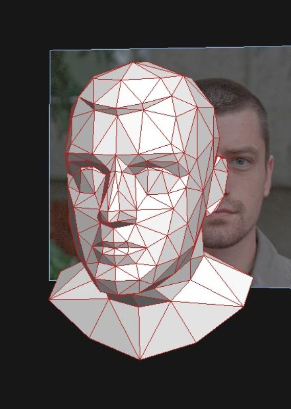 3D face portrait by Eric Testroete 3