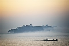 Colorful Dream..... (Shad0w_0f_Dark) Tags: sky color tree water fog sunrise river landscape boat nikon sigma wave safari ttl dhaka d200 bangladesh wintermorning 105macro flickraward