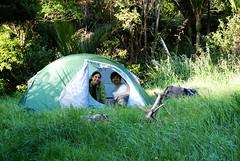 Unser neues Zelt in Aktion