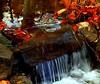 Free Fall (Tina-Pina) Tags: blue autumn red fall water pool leaves scotland perthshire manmade interestingness136 i500 perfectstone