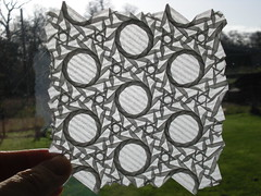 Stars and dodecagons - folded (Paper Mosaics) Tags: origami tessellation bateman lightpattern dodecagon