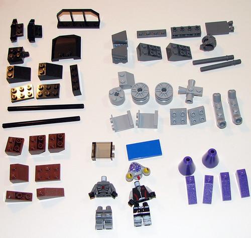 LEGO Space Police 2010 5982 Smash 'n' Grab - Parts 1