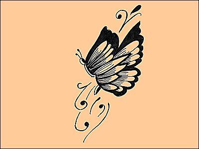tattoo papillon. henna tattoo-butterfly design
