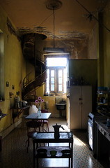 the coffee pot, la caffettiera (nadiaknorpp (on holidays happy New Year)) Tags: morning flowers house kitchen breakfast table la cozy moody havana cuba stairway stove moka caffettiera coffepot