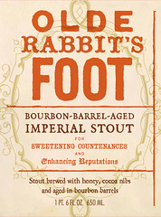 Olde Rabbit's Foot craft beer