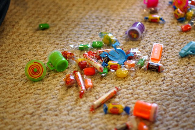 candy everywhere!