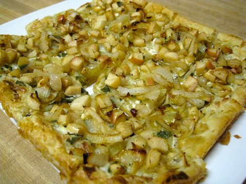 Caramelized Onion with Apple Tart