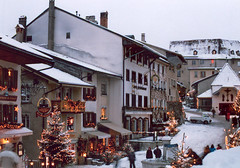 Switzerland - Gruyre (Cecilia Temperli) Tags: christmas schnee winter snow switzerland christmastree weihnacht gruyere greyerz kantonfreiburg cantonfibourg