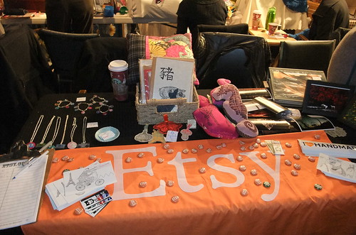 some T.E.S.T. at the Etsy table