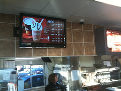 Flatscreen TV in McDonalds