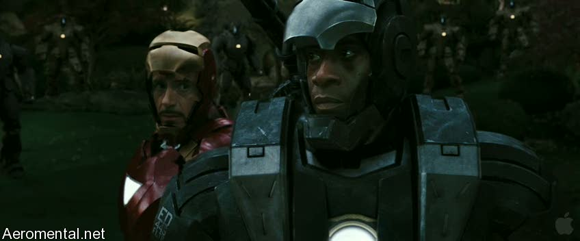 Iron Man 2 Trailer 2 War Machine masks off