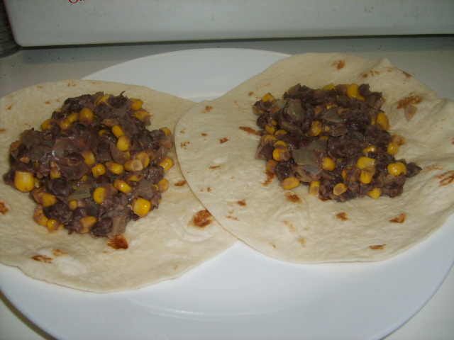 Black Bean and Corn Burritos