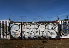 Enrons (Waves of Perception) Tags: art train graffiti oakland bay tracks area vandalism nr enron enrons