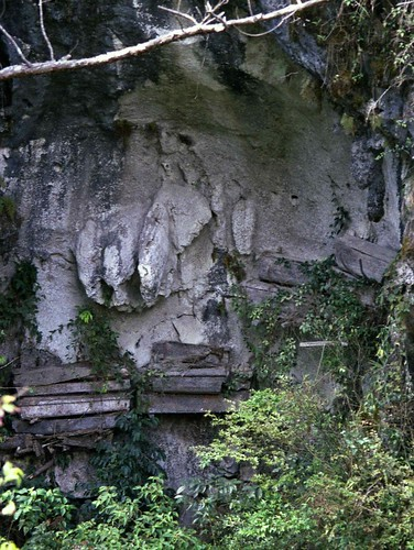 Hanging Coffins from Cliff; Sagada, Mountain P...