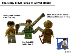 The Many LEGO Faces of Alfred Molina (tin7_creations) Tags: lego alfred minifig doc sheik amar molina ock satipo