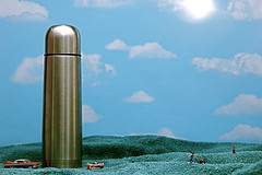 Water Tower Park (JD Hancock) Tags: park sky favorite scale grass clouds fun toy miniature little small watertower perspective cc tiny figure ho waterbottle 1k hoscale littledudes inkitchen jdhancock