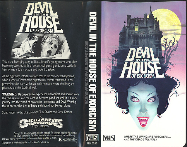 Devil In The House Of Exorcism (VHS Box Art)