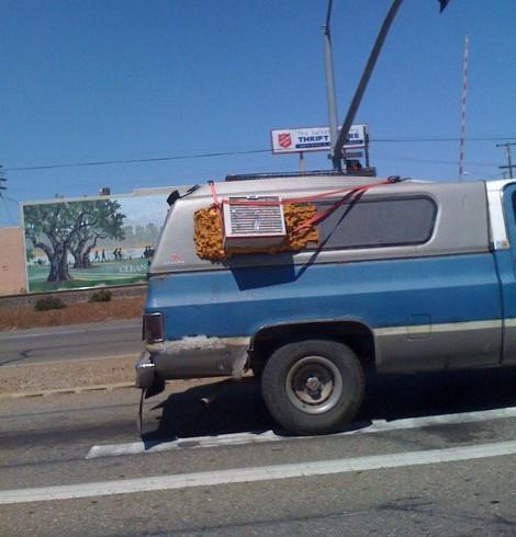 air on on a van
