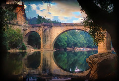 Magical Portugal (h_roach) Tags: bridge portugal beautiful river evening peaceful simply magical amarante colorphotoaward
