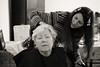 Mum is getting a haircut (koalie) Tags: christmas bw haircut nb koalie coralie coraliemercier laurencemercier byvv06 byvlad mamielaurence